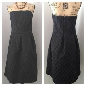 White House Black Market strapless BLK dress sz 16